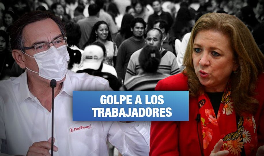 Sindicatos rechazan que Gobierno ceda ante Confiep y suspenda contratos laborales