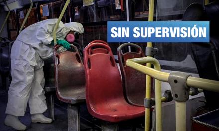 Contraloría detecta faltas en servicio de desinfección de transporte público