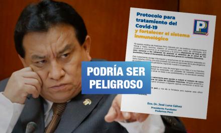 Rechazan «protocolo» de Podemos Perú para pacientes de COVID-19