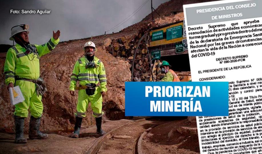Reactivación económica gradual inicia con actividad minera desde mayo