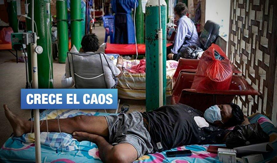 Iquitos: robos, estafas, desborde hospitalario y una muerte indigna