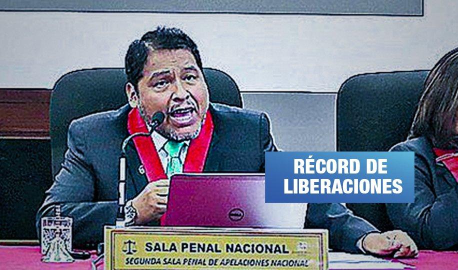 Sala del juez Sahuanay que favoreció a más de 10 fujimoristas investigados libera a Pier Figari
