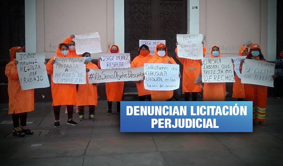 Lima aún no cumple con incluir en planilla a trabajadoras de limpieza pública y convoca nueva licitación