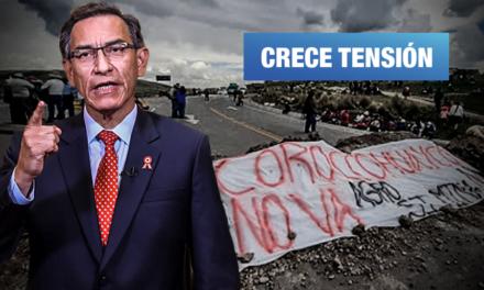 Vizcarra destaca proyecto de minera Glencore en plena protesta de Espinar