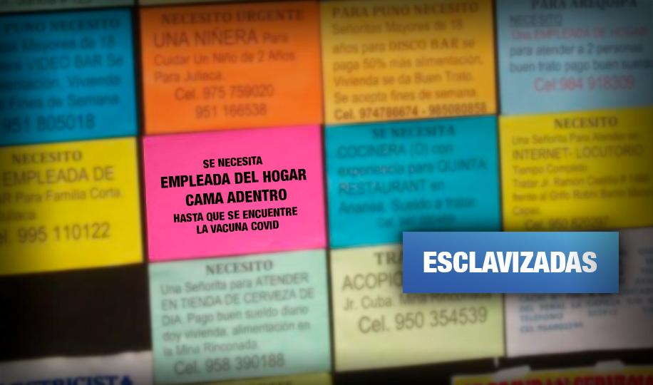 Federación denuncia maltrato a trabajadoras del hogar por anuncios 'cama adentro'