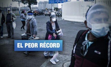 Perú llega a su cifra más alta de fallecidos por COVID -19: 221 en un día