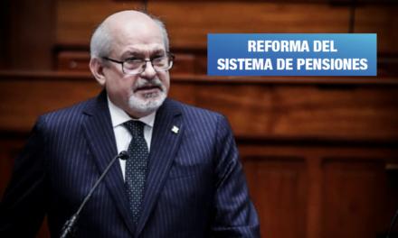 Cateriano propone pensión mensual mínima para cada peruano en edad de jubilación
