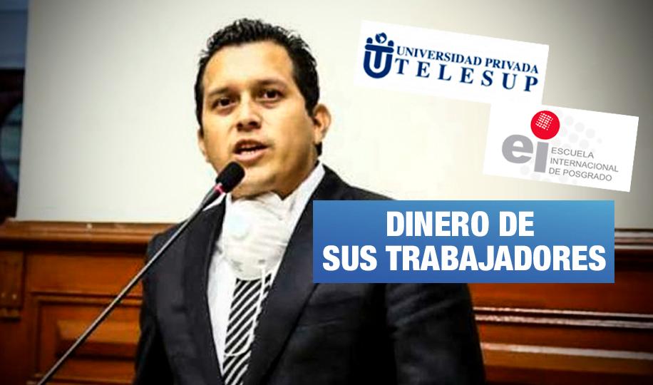 Empresas de congresista José Luna deben S/ 492 mil a AFP, ONP y EsSalud