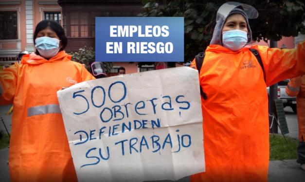 Obreras de limpieza reclaman que Municipalidad de Lima mantiene a 504 trabajadoras fuera de planilla