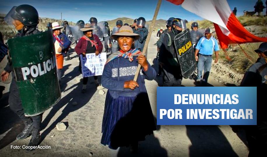 Espinar: Reportan ante CIDH violaciones de derechos humanos por parte de policías