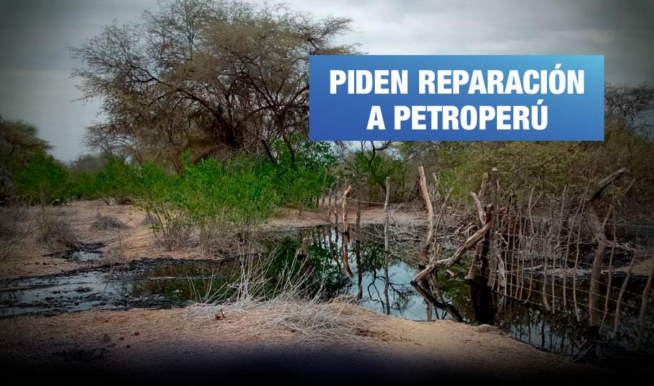 Caserío de Olmos denuncia daños por derrame de petróleo en Lambayeque