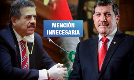 Ministerio de Defensa rechaza alusión de Merino sobre las Fuerzas Armadas