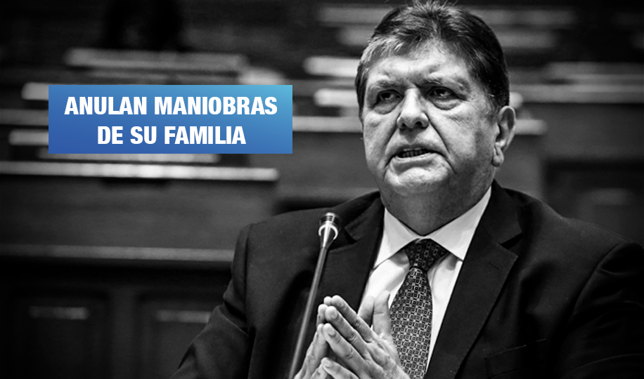 PJ prohíbe transferir casa de Alan García valorizada en más de 800 mil dólares