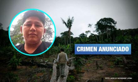 Asesinan a defensor ambiental en Madre de Dios amenazado por invasores de terrenos