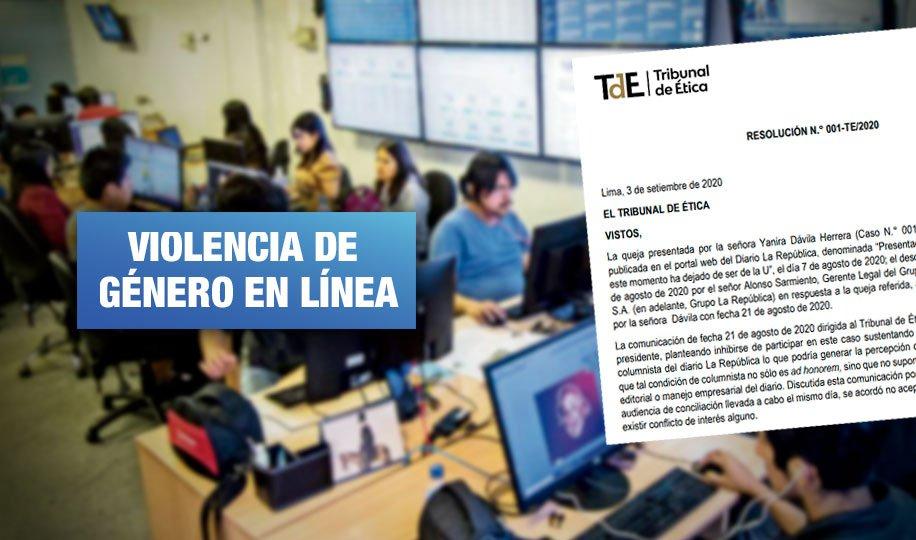 Caso Yanira Dávila: Tribunal de Ética exhorta a Grupo La República a no propiciar el ciberacoso