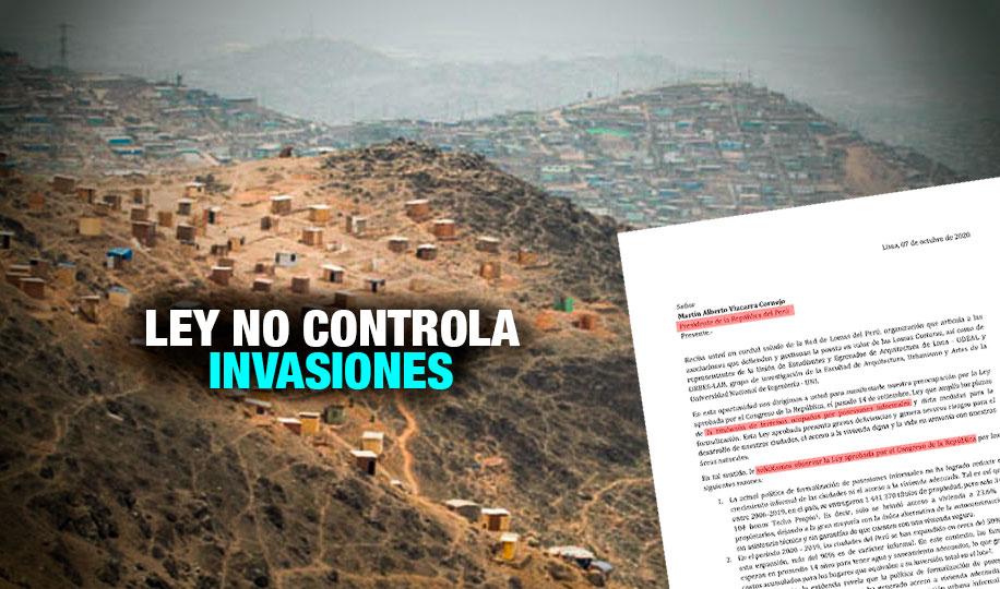 Más de 50 organizaciones piden a Vizcarra no promulgar ley que legitima tráfico de terrenos
