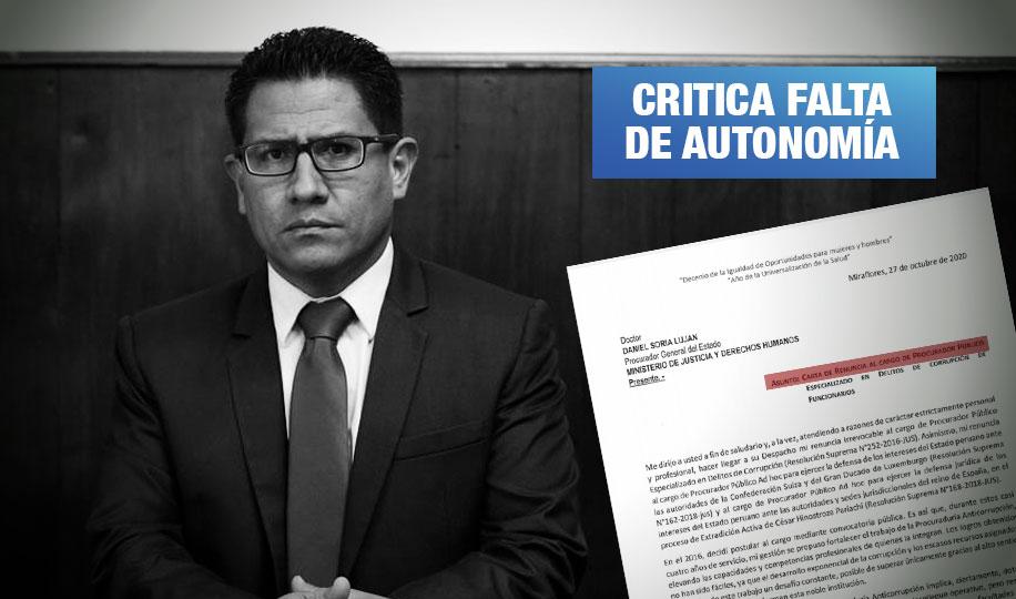Procurador Amado Enco renuncia tras desacuerdos en investigaciones a Vizcarra