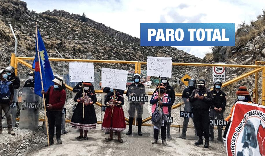 Las Bambas: Ciudadanos protestan para que empresa cumpla con canon minero