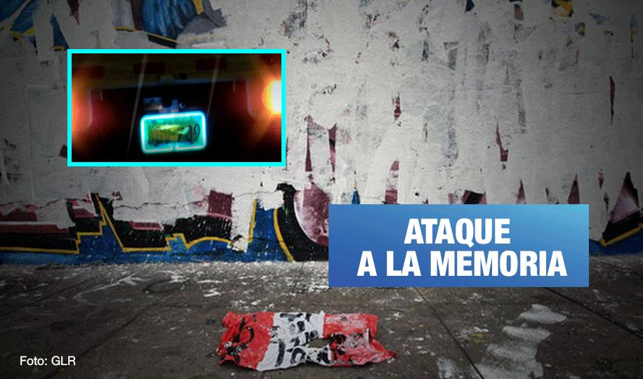 Destruyen mural de Inti y Bryan: Propietaria de vehículo es afiliada de Fuerza Popular