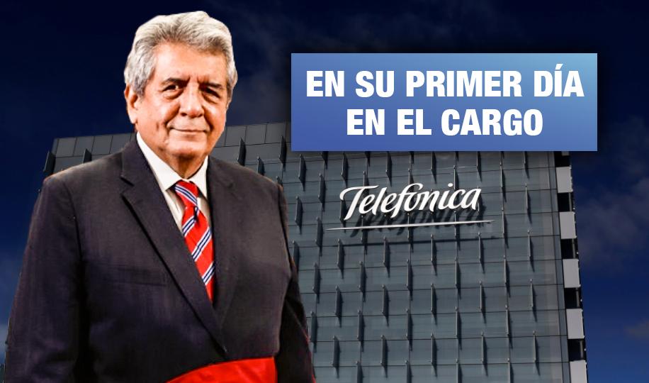 Ministro de facto del MTC entregó concesión por 20 años a empresa de Telefónica