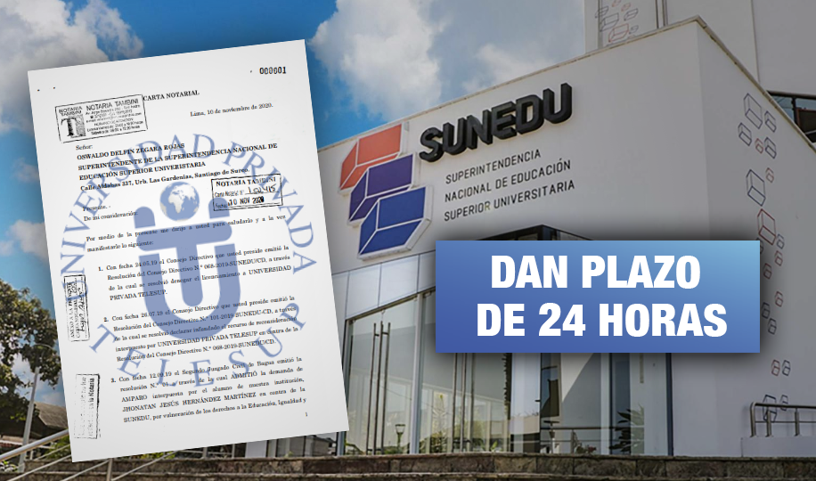 Telesup amenaza a Sunedu con denuncia penal si no anula la negativa a su licenciamiento