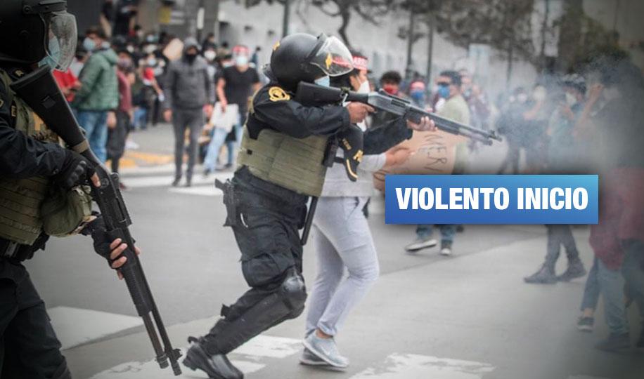 Primer día de gobierno de Merino deja decenas de heridos y detenidos