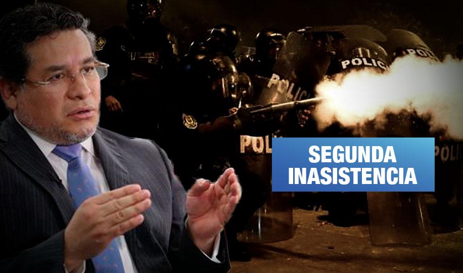 Ministro del Interior continúa sin responder sobre represión policial ante el Congreso
