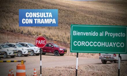 Proyecto Coroccohuayco: Alertan posible fase de explotación en reinicio de consulta previa