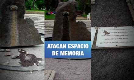 Nuevo acto vandálico al memorial El ojo que llora