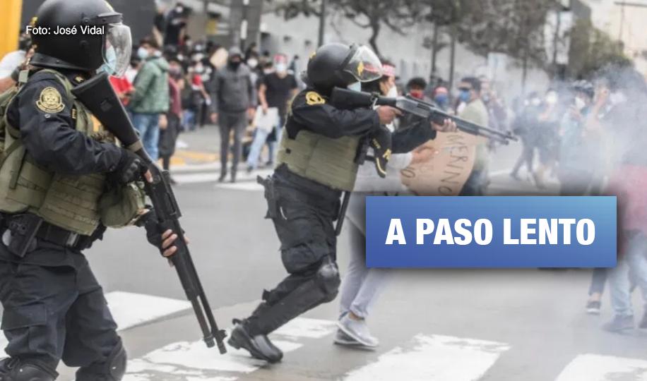 Reforma policial y reparación para víctimas de la represión avanzan con retraso y sin rumbo