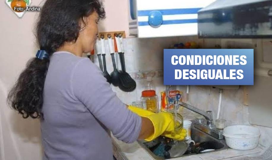 Mujeres peruanas con hijos dedican hasta 48 horas semanales al trabajo doméstico sin pago