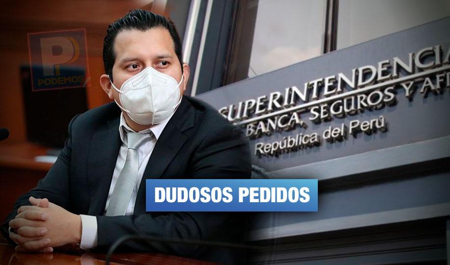 José Luna solicitó información a la SBS que pondría en riesgo prevención de lavado de activos