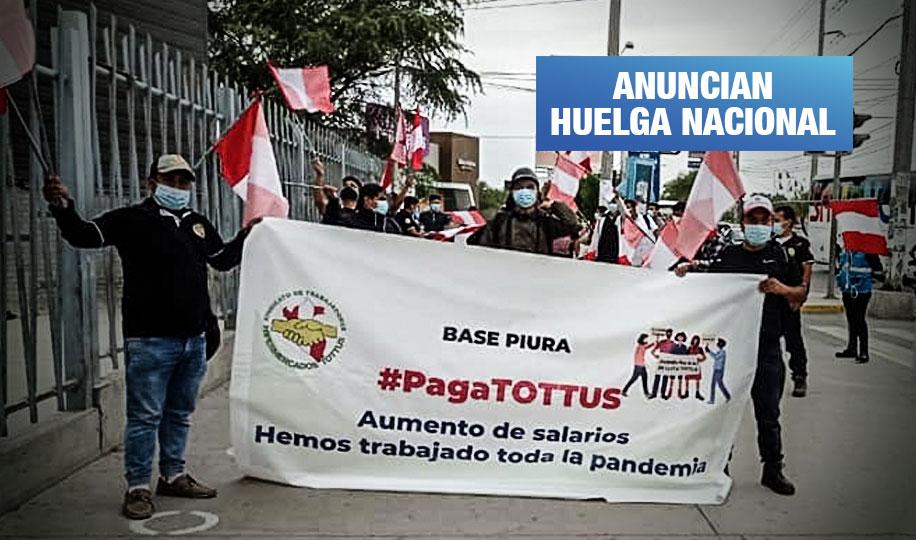 Trabajadores de Tottus reclaman mejoras salariales y bonos para afrontar la pandemia