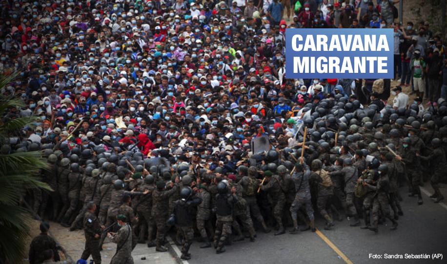 Ejército de Guatemala reprime con violencia a miles de hondureños que avanzan rumbo a EE.UU.