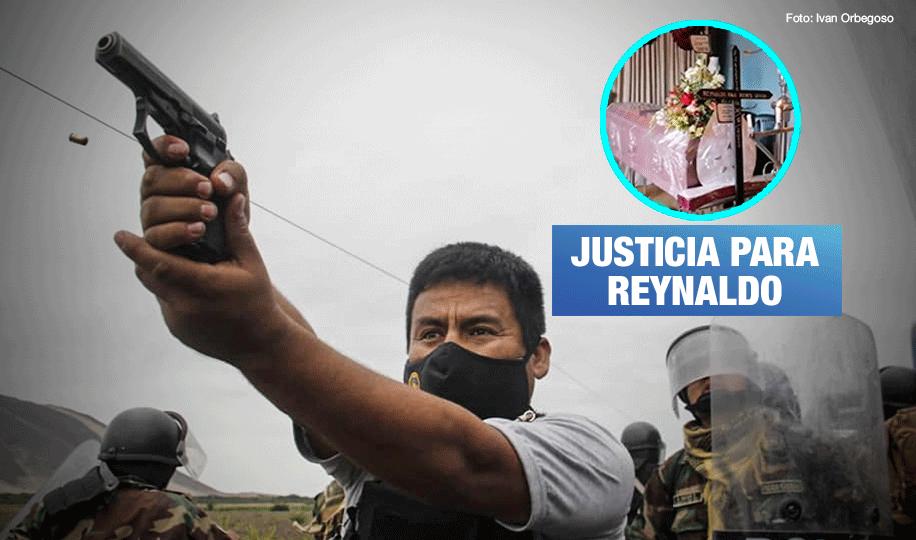 Arma de policía de esta fotografía mató a trabajador agrario en Virú, según peritaje balístico