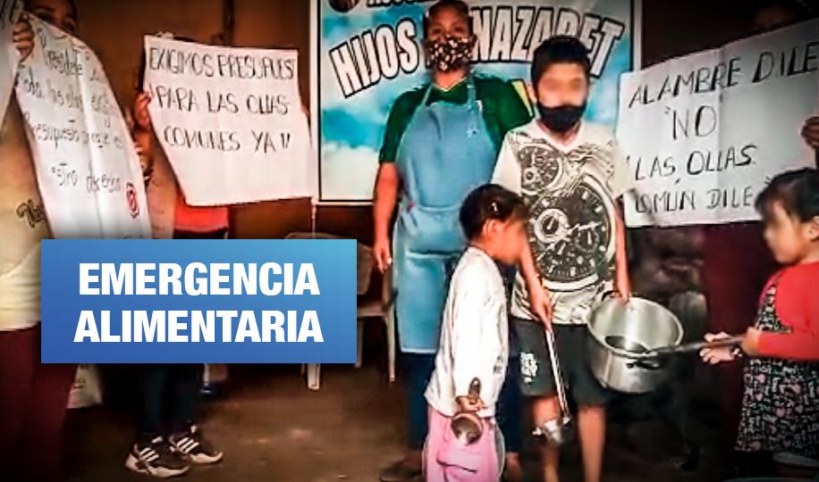 Ollas comunes de Lima sin presupuesto para alimentar a más de 120 mil familias