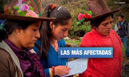 Solo el 6% de mujeres en zonas rurales culminan los estudios superiores