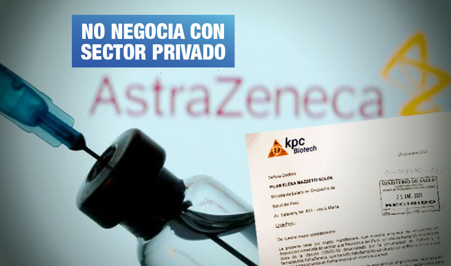 Empresa que ofrece millones de vacunas AstraZeneca no tiene representación del laboratorio