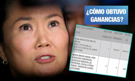Keiko Fujimori declaró ingresos por más de S/ 220 mil mientras estuvo presa