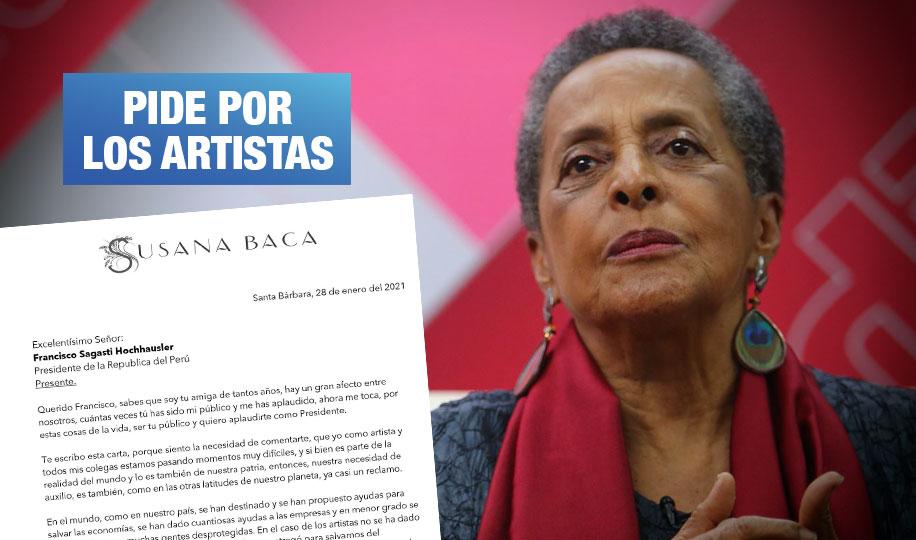 Susana Baca pide al presidente Sagasti ayuda para artistas ante inminente cuarentena