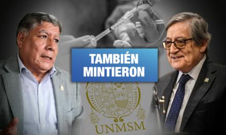 Rector y vicerrector de UNMSM también se vacunaron de forma irregular