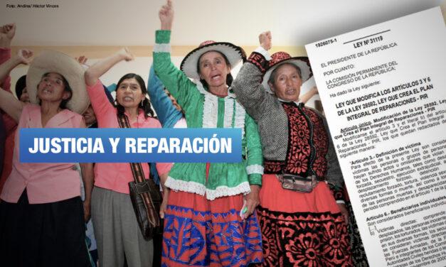 Promulgan ley que incluye a víctimas de esterilizaciones forzadas en plan de reparaciones