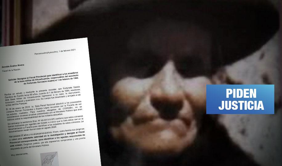 Vilcashuamán: Exigen identificar a miembros de base militar que desaparecieron a Fortunata García