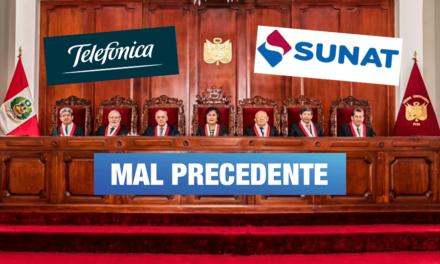 Sobre fallo del TC, en el caso Telefónica: «El panorama se presenta desolador para el Estado y la Sunat»