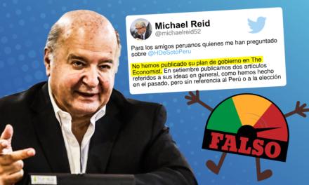 Mentirómetro Electoral: Hernando de Soto y su plan de gobierno