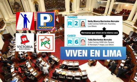 Elecciones congresales: 353 candidatos registran domicilio distinto a la región por la que postulan