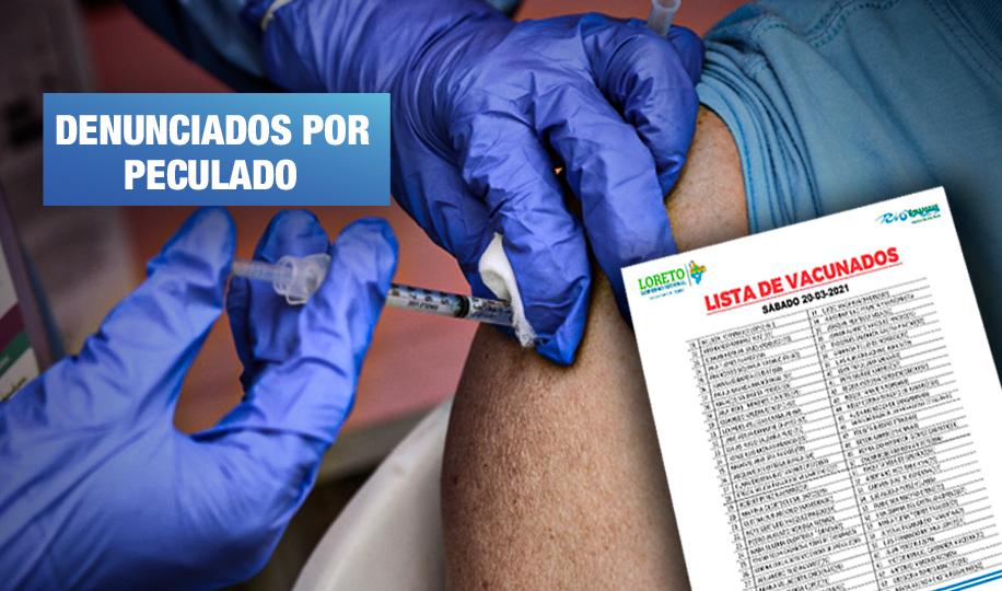 66 personas se vacunaron de forma irregular en Loreto
