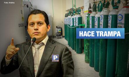 Congresista Luna usa su donativo en planta de oxígeno para captar votos