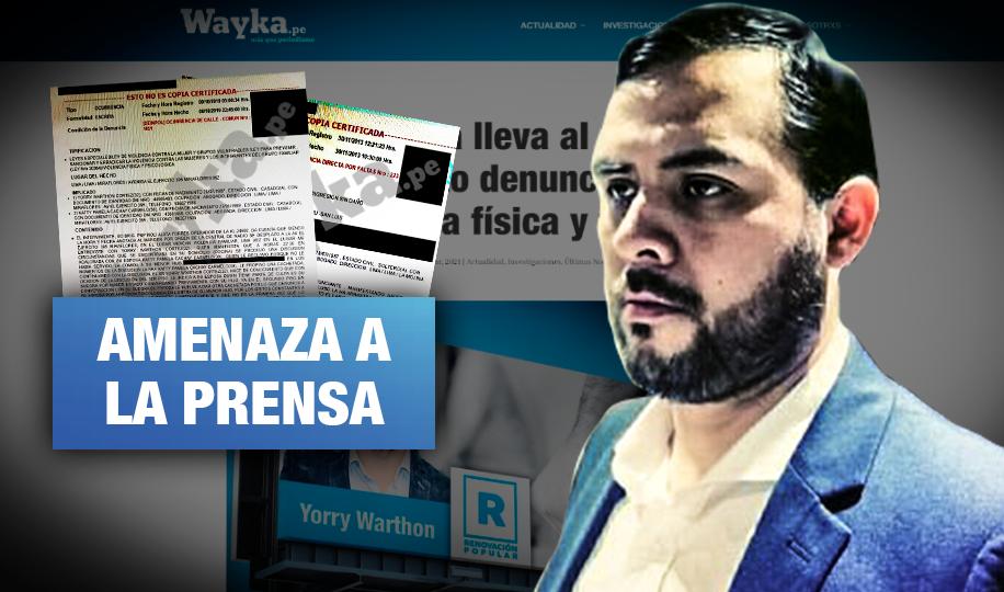 Candidato de López Aliaga amenaza con censurar prensa tras difusión de sus denuncias por violencia
