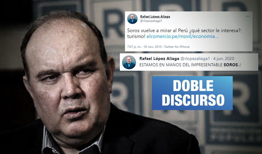 López Aliaga atacaba a George Soros pero accedió a sus fondos durante varios años